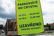 Parkoviště Kulturního domu Crystal během slavností poslouží jako plac pro kolotoče.