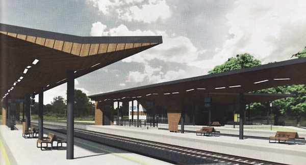 Nový terminál se oproti poloze stávajícího nádraží posune blíže kměstu. Pod terminálem by měl vést podchod, který umožní přístup cestujících od průmyslové zóny vDubici.