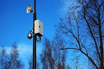 Kamera na Lipovém náměstí v Doksech.
