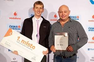 Jan Zámečník ze společnosti SINGING ROCK (vlevo) a živnostník Jiří Pačinek.