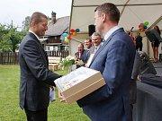 Slavnostní vyhlášení soutěže Vesnice roku Libereckého kraje 2016 se konalo v Prysku, který získal zlatou stuhu.