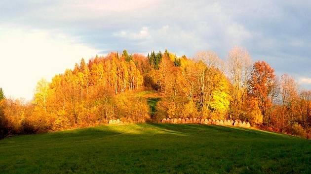 Cílem naučné stezky je vrch Sokolík.
