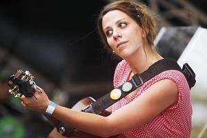 Aneta Langerová na festivalu České hrady pod Kunětickou horou.
