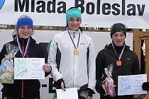 Českolipská závodnice Daniela Bendová (vpravo) přivezla bronz.