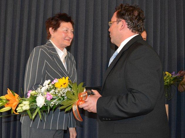Zdeňka Bittnerová byla oceněna za podporu a propagaci sportu ve městě.
