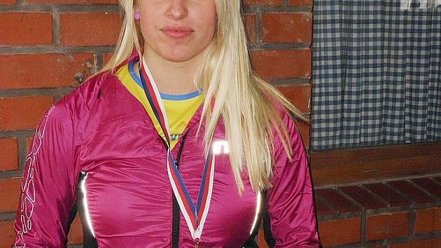 Bronzová atletka Veronika Süssnerová z českolipského klubu na mistrovství republiky.