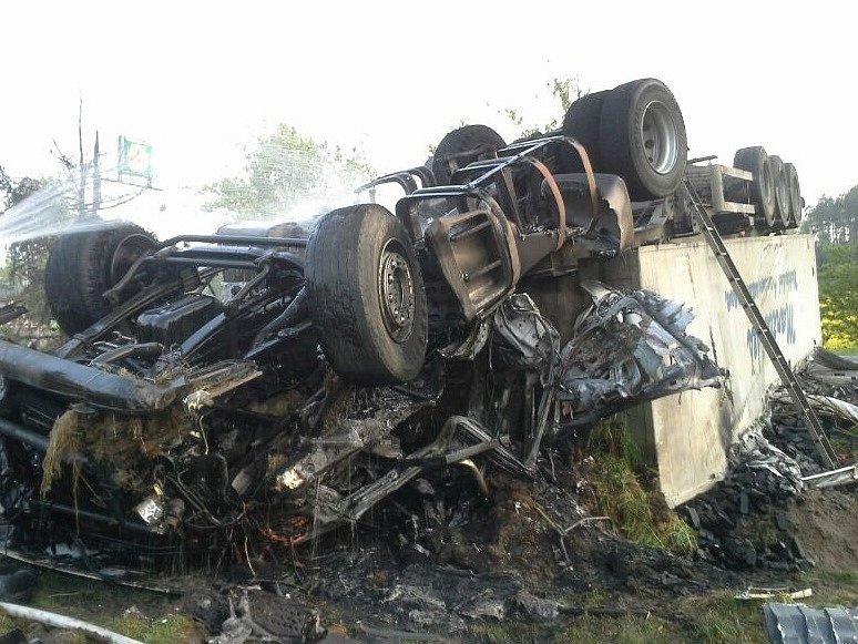 Nehoda kamionu v Jestřebí.