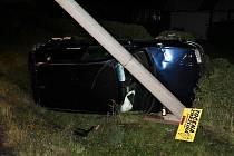 Dopravní nehoda v Borské ulici v České Lípě.