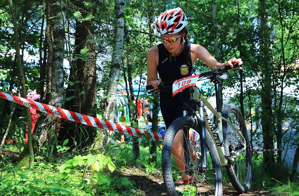 První triatlon pod značkou XTERRA po koronavirové pauze v Kunrticích u Cvikova.