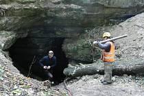 Piskovcový důl ve Skalici.