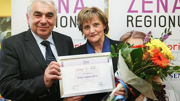 Senátor Jiří Vosecký s Evou Barkmanovou