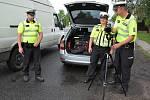Policejní hlídka na Českolipsku