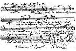 Slavná Fidlovačka, kde píseň Kde domov můj poprvé zazněla, měla premiéru 21. prosince 1834.