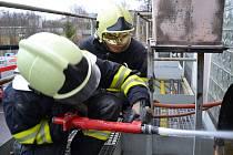 Požár vzduchotechniky. Ilustrační foto.