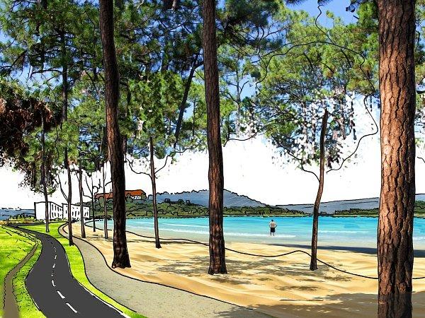Plánované úpravy pláže unádrže Horka.