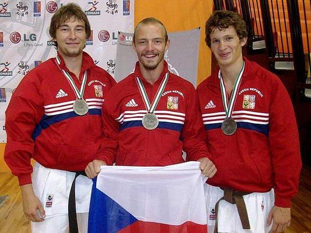 Sport Relax na MS v Mexiku. Zleva: Jan Drobeček, Adam Zdobinsky, Ondřej Novotný.