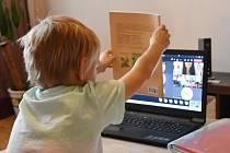 Online vyučování. Ilustrační foto.