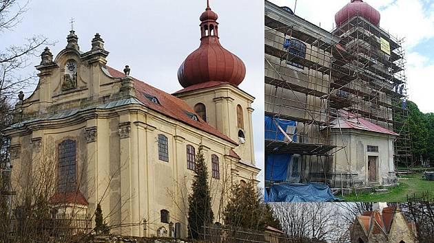 Kostel, část hřbitovní zdi i hrobku už na Polevsku opravili. Nyní je čeká zídka, která je před kostelem a dlouhá léta se rozpadá.