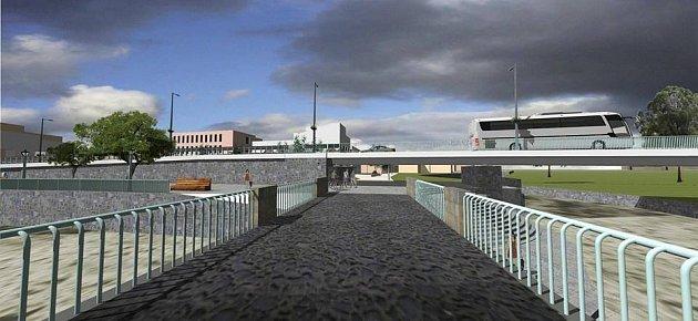 VIZUALIZACE PRŮTAHU. Vedení místní radnice věří, že projekt by významně pomohl snížit dopravní zatížení centra města.