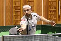 Jan Fojtík, člen A-mužstva stolních tenistů Jiskry Nový Bor