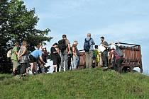Exkurze kroužku  GeoLovci na Hůrce v České Lípě v září 2020.