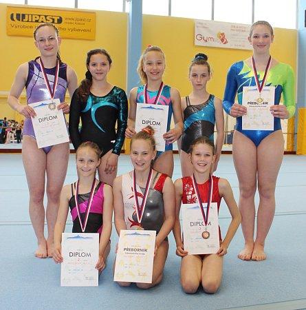 Dokské gymnastky přivezly zLiberce dvanáct medailí.
