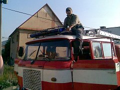 Ukázka hasičské techniky sboru ze Stvolínek.