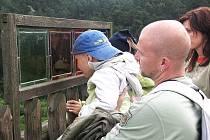 Výhled ze Skalního hradu Sloup ocení řada turistů.