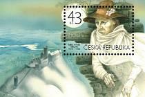 Známka, kterou vydala Česká pošta k 200. výročí narození Karla Hynka Máchy, vznikla podle výtvarného návrhu akademického malíře Jana Kavana.