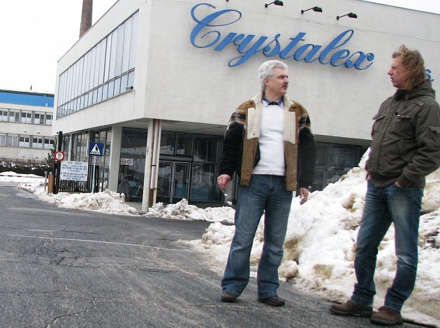 Setkání bývalých sklářů u Crystalexu.