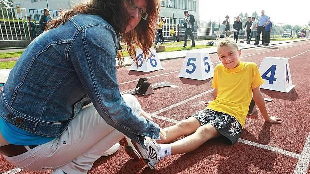 Na českolipských sportovištích měřila síly čtyřicítka dětí z boleslawieckých základních škol se stejně početnou výpravou dětí z České Lípy.