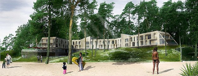 Ve studii budoucí hotel vypadá takto.