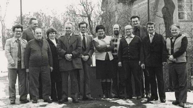 """1. března 1966 vznikla účelová organizace Uranové doly Hamr. Mezi pracovníky, kteří měli na starosti hlavně výstavbu těžebního závodu a chemické úpravny, byla nová organizace familiérně přezdívaná """"Účelovka""""."""