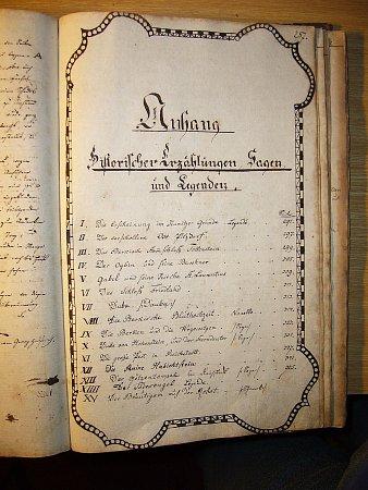 Kronika Zákup a okolí zroku 1836.