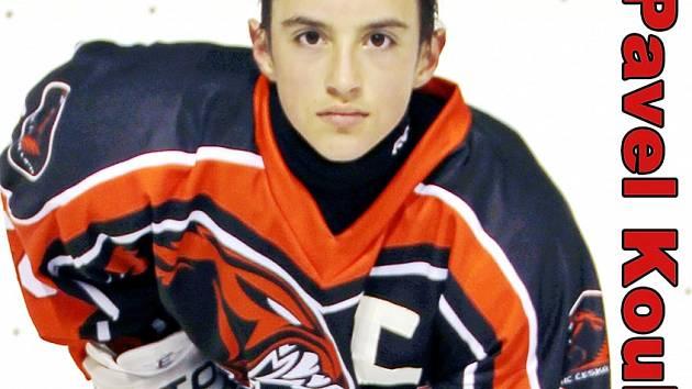 Pavel Kouba, nadějný hráč českolipského hokeje.