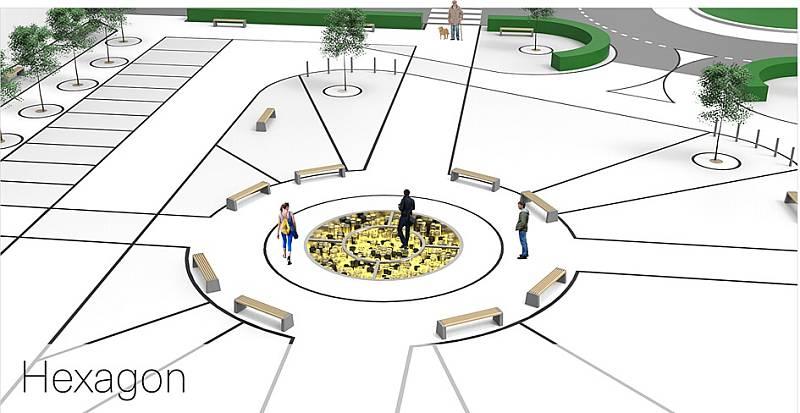 3. místo: Hexagon – Michal Ullrich (Nový Bor), autor návrhu Tomáš Hovorka (Semily).