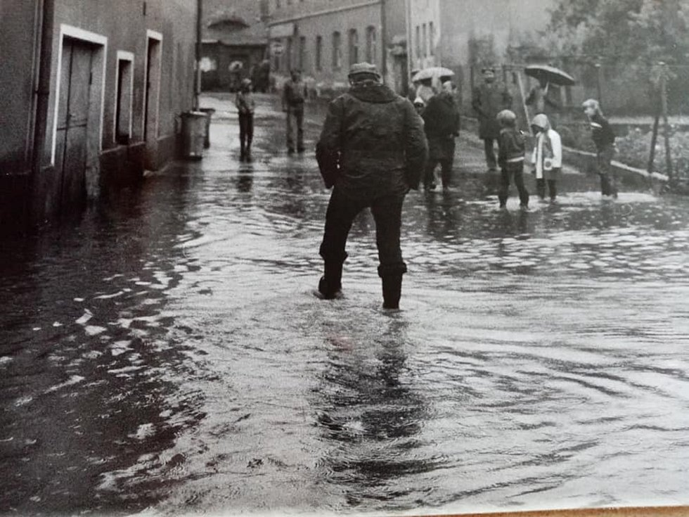 Povodeň do Zákup přišla i před čtyřiceti lety - v červenci 1981. Rozsah pohromy zachycují dobové fotografie.