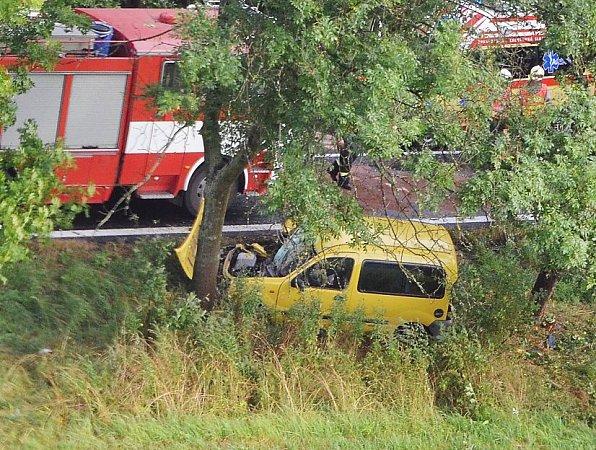 Nedělní nehoda uChlumu.