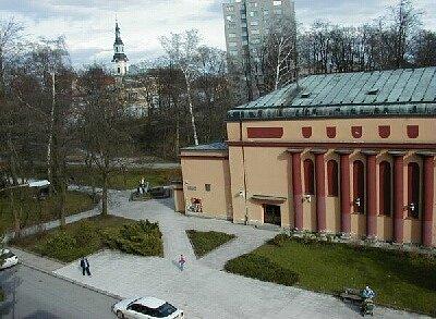 Kino v Novém Boru. Pohled zvenku.