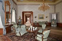 Císařské interiéry zámku Zákupy.