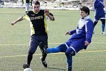 Staronová posila. Na fotbalové schopnosti Tomáše Cermana (vlevo) bude Josef Vinš na jaře hodně spoléhat.