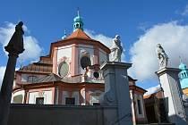 Areál kostela Navštívení Panny Marie v Horní Polici.