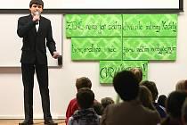 Soutěž Mladý moderátor se ZŠ Slovanka koná každoročně, mottem letošního ročníku byla ekologie.