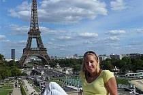 Petra Chocová v Paříži.