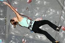 Novoborská sportovní lezkyně Anna Wágnerová v cíli.