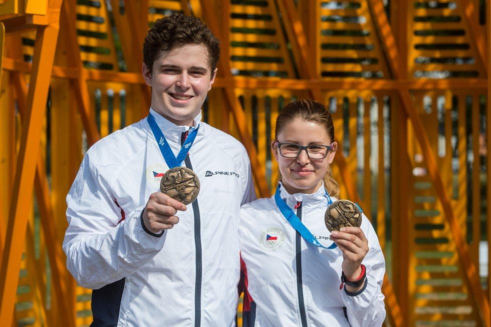 Aneta Brabcová a Filip Nepejchal  - Evropské sportovní hry, 22. června 2019 v Minsku.