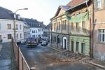 Pád zdi v České Lípě