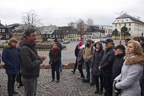 Lidé v Novém Boru v hojné míře využili možnost seznámit se s problematikou urbanismu.