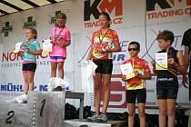 Vyhlášení žákovské kategorie Tour de Zeleňák, kde se na třetím místě umístila Eliška Reicheltová a čtvrtý Jakub Vávra.