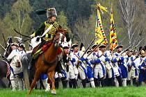 Ukázka bitvy z roku 1757 se poprvé odehrála ve Vesci.